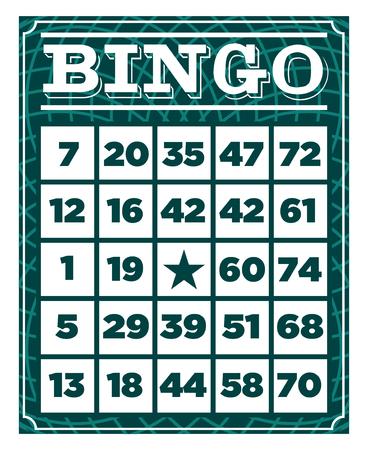 Ilustración de Retro vintage bingo game card template - Imagen libre de derechos