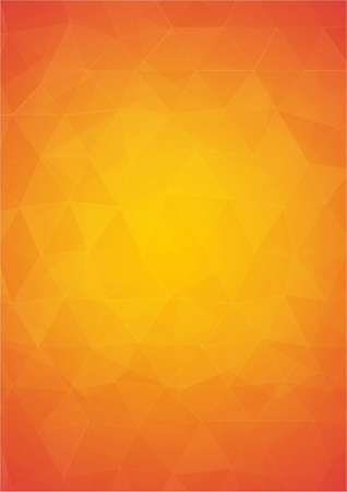 Illustration pour Orange and yellow abstract background with triangular shapes - image libre de droit