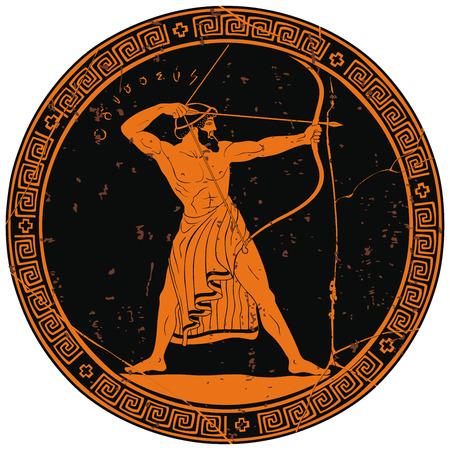 Illustration pour Ancient Greek warrior. - image libre de droit