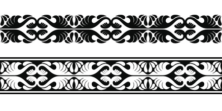 Illustration pour Seamless vector ornament in the Art Nouveau style based on ancient Greek elements. - image libre de droit