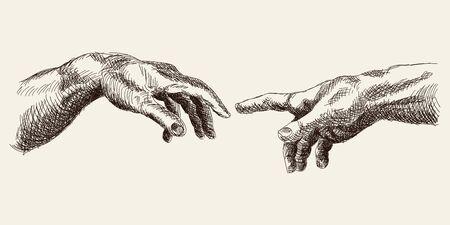 Ilustración de Hand on a white background. - Imagen libre de derechos