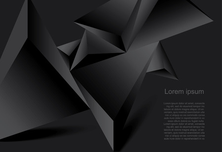 Ilustración de Abstract black background geometrical polygonal form - Imagen libre de derechos