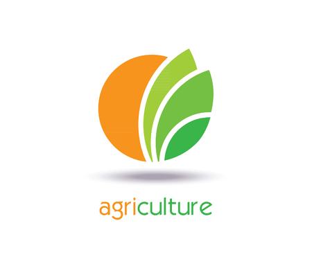 Illustration pour Agriculture Logo Template Design. Icon, Sign or Symbol. farm, nature, ecology. Vector flat design - image libre de droit