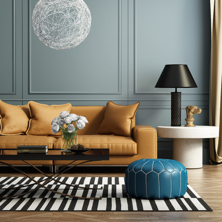 Photo for Contemporary elegant luxury living room - Royalty Free Image