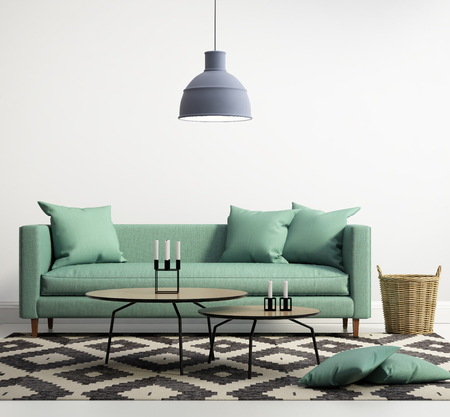 Green contemporary modern sofa