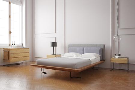 Photo pour Modern bedroom interior - image libre de droit