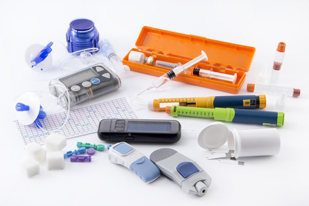Foto de Diabetic items set all you need to control diabetes - Imagen libre de derechos