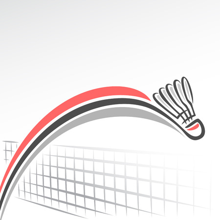 Illustration pour Abstract background on the badminton theme - image libre de droit