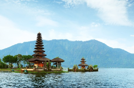 Photo for Hindu temple Bratan on a lake. Bali. Indonesia - Royalty Free Image
