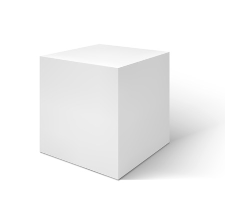 Illustration for Vector White cube  isolated on white background - Royalty Free Image