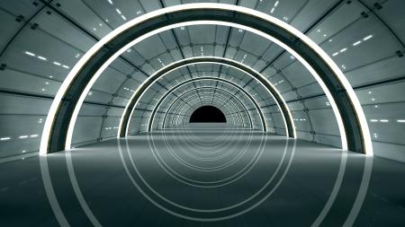 3d design futuristic interior