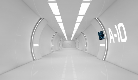 Photo pour Futuristic interior - image libre de droit