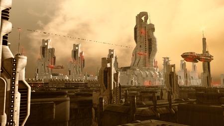 Photo pour Futuristic city - image libre de droit
