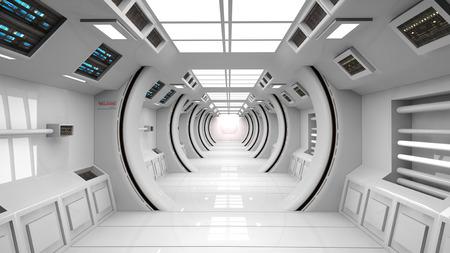 Photo pour Futuristic corridor background - image libre de droit
