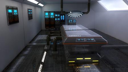 Photo pour Futuristic room architecture - image libre de droit