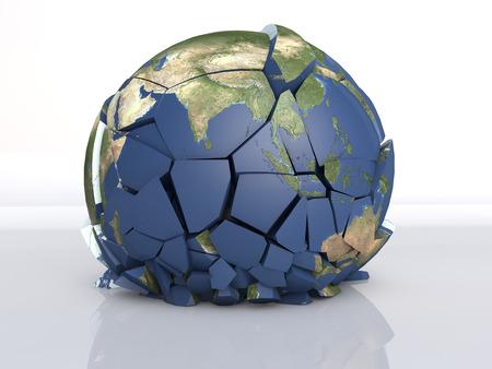 Photo pour 3D fracture earth - image libre de droit
