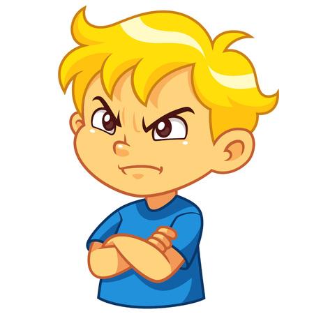Illustrazione per Angry boy cartoon character - Immagini Royalty Free