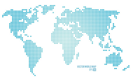Illustration pour Vector world map. - image libre de droit