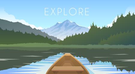Ilustración de Sailing boat First person. - Imagen libre de derechos