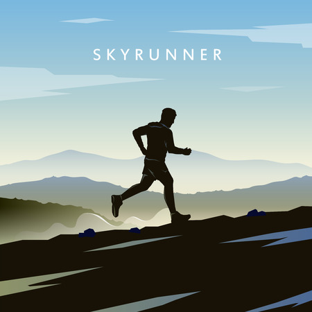 Illustration pour Mountain Running. - image libre de droit