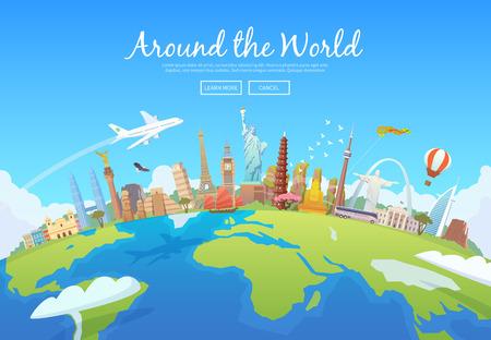 Illustration pour Travel to World. - image libre de droit