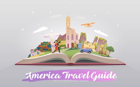 Illustrazione per Travel to South America. Vector illustration. - Immagini Royalty Free