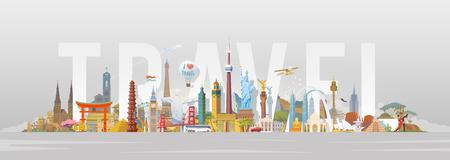Ilustración de Travel to World. - Imagen libre de derechos