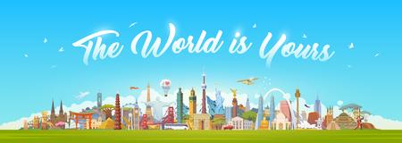 Illustrazione per Travel to World. - Immagini Royalty Free
