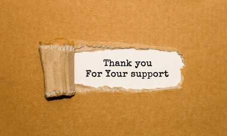 Photo for The text Thank you For Your support appearing behind torn brown paper - Royalty Free Image
