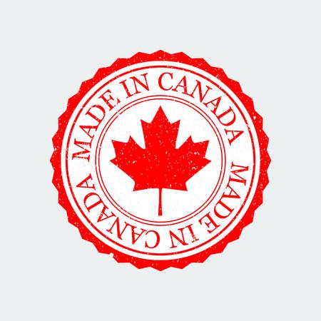 Ilustración de Grunge Rubber Stamp Canada On White Background. - Imagen libre de derechos