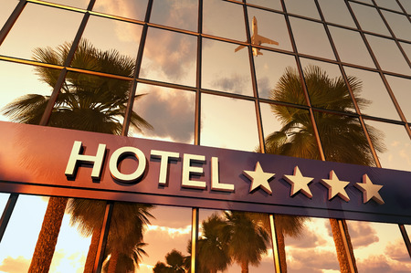 Photo for hotel sign with stars - Royalty Free Image