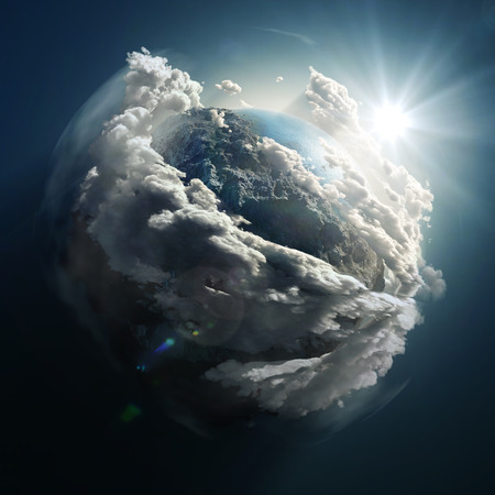 Foto de sunrise over the earth - Imagen libre de derechos