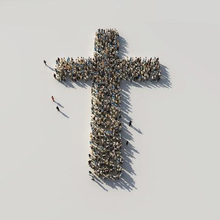 Foto de crowd as the cross - Imagen libre de derechos