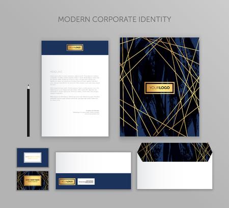 Illustration pour Corporate identity business set. Modern stationery template design. Documentation for business. - image libre de droit