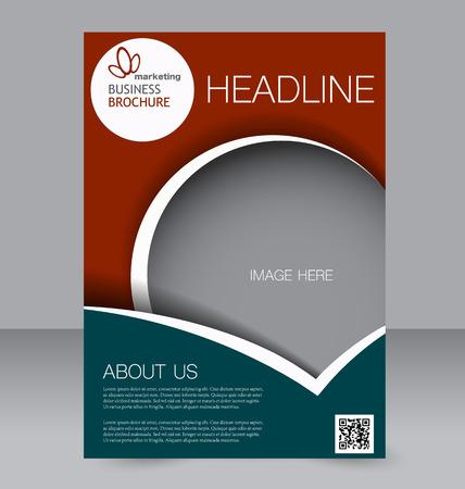 Illustration pour Flyer template. Brochure design. Editable A4 poster for business, education, presentation, website, magazine cover. Green and red color. - image libre de droit