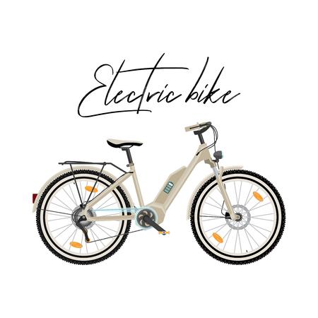 Illustration pour Electric city bike vector illustration isolated on white background - image libre de droit