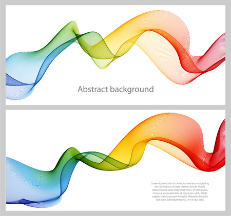Illustration pour Abstract color wave design element, concept decoration - image libre de droit