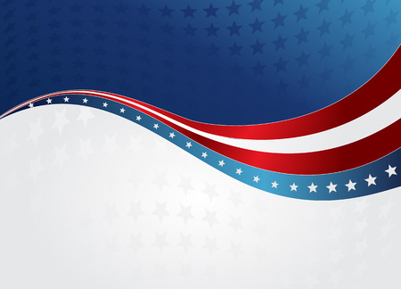 Illustration for American Flag, Vector background for Independence Day and other events. Illustration in EPS 10. - Royalty Free Image