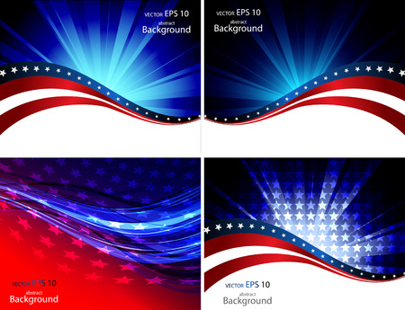 Illustration pour American Flag, Vector background for Independence Day and other events. Illustration - image libre de droit