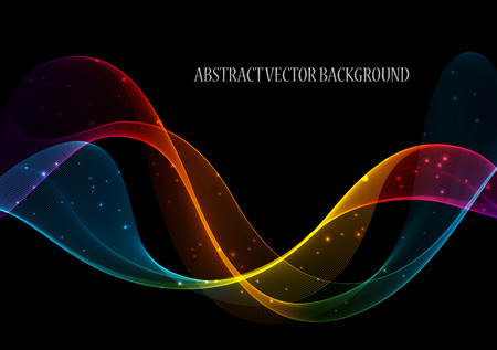 Photo pour Abstract color wave design element, concept decoration - image libre de droit