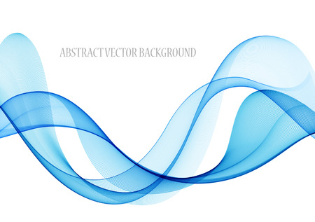 Ilustración de Abstract color wave design element, concept decoration - Imagen libre de derechos