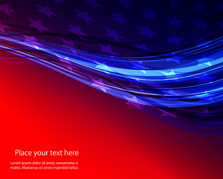 Ilustración de Abstract image of the American flag USA star - Imagen libre de derechos