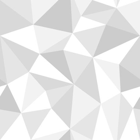 Ilustración de Seamless geometric pattern from triangles. Monochrome gray style ready to change color. - Imagen libre de derechos