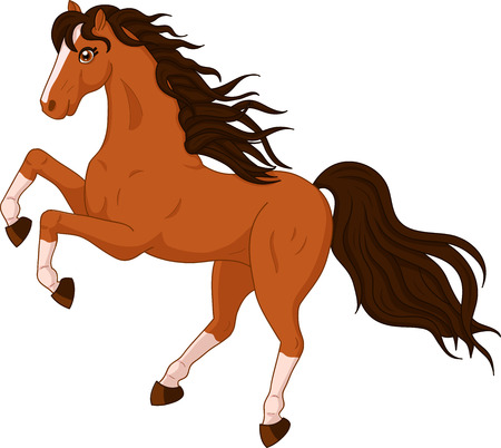 Illustration for illustration of a beautiful horse on white background - Royalty Free Image