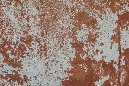 Foto de Old Rust textures wall with paint. Perfect background with space. - Imagen libre de derechos