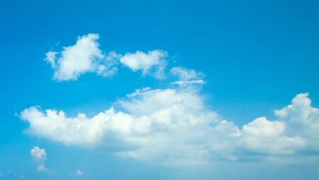 Photo for Blue sky clouds background. Beautiful landscape with clouds on sky - Royalty Free Image