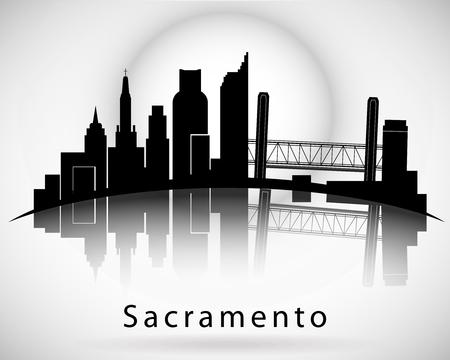 Illustration pour Sacramento skyline - image libre de droit