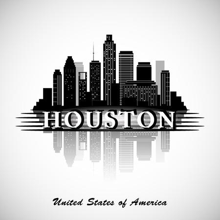 Illustration pour Houston Texas skyline city silhouette - image libre de droit