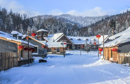 Photo pour snow village - image libre de droit