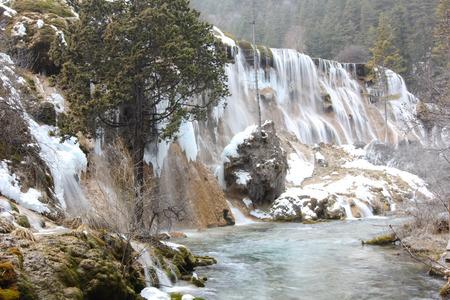 Photo for Jiuzhaigou in snow - Royalty Free Image